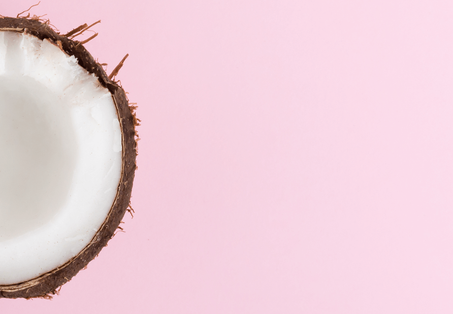 Coconut Image with Pink Background